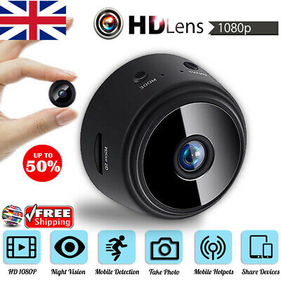 Mini IP Camera Wireless Magnetic 64G WiFi HD 1080P Home Security Night Vision UK