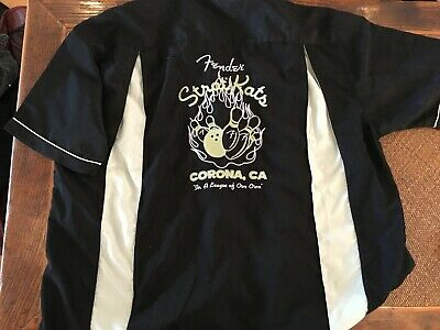 Rare Cool Genuine FENDER guitar vintage 50's style Bowling shirt - LAST ONE