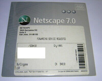 Vintage Original Netscape 7.0 Internet Suite Install Windows PC CD-ROM (2002)