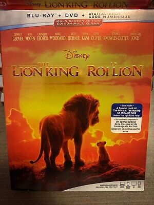 Lion King 2019 Live Action Blu-Ray & DVD w Slipcover Canada Bilingual NO DC LOOK