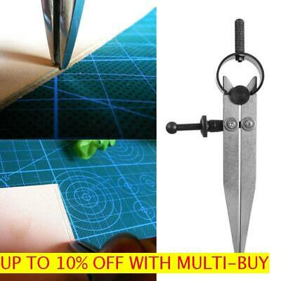 Tool Carbon Steel Stitch Distance Measure Wheel Compass Leather Scriber Divider