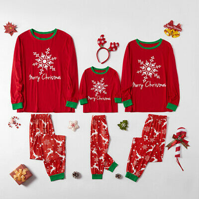 Adult Kids Matching Family Pajamas Christmas Boys Girls Pyjamas Set GIFT