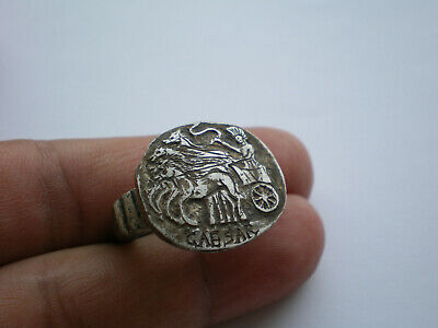 VERY RARE Ancient ROMAN LEGIONARY SILVER Ring