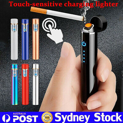 Windproof Lighter Electric Double Arc Flameless Plasma Torch Usb Rechargeable TT