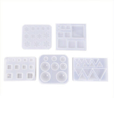 Silicone Mold Resin Jewelry Making Mould Epoxy Geometry Pendant Craft DIY ToolFB