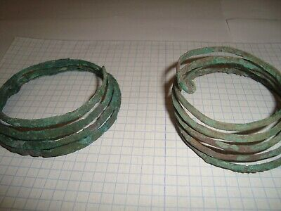 Ancient Twisted bracelet. Serpentine bronze bracelet   100%original