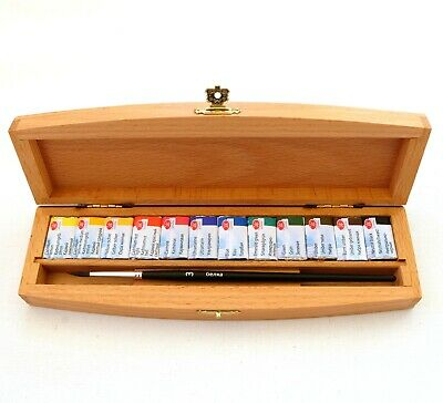 """St Petersburg """"White Nights"""" Artist Watercolour Set -12 Whole Pans in wooden box"""
