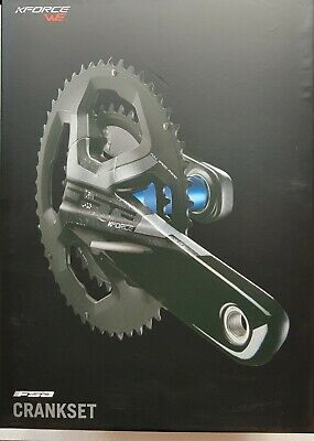 FSA K-Force ABS Double 386EVO Crankset 34//50T 172.5mm 4H Black Graphic w//o BB