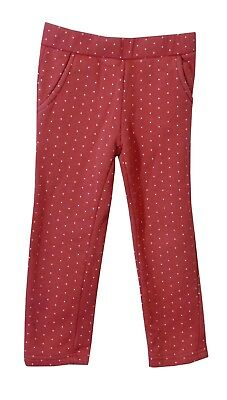 Girls Gap Pink White Spotty Elasticated Waist Comfy Casual Joggers Age 4 Years