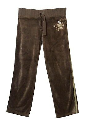 Girls Next Light Brown Soft Velour Comfy Casual Joggers Trousers Age 7 Years