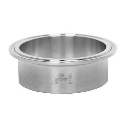 """Sanitary Stainless Steel Long Ferrule Tri-Clamp Fitting 2"""" 304"""