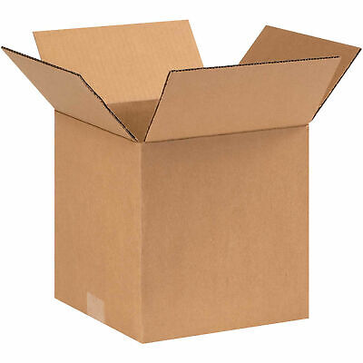 """9"""" x 9"""" x 9"""" Cube Cardboard Corrugated Boxes, 65 lbs Capacity, 200#/ECT-32, Lot"""