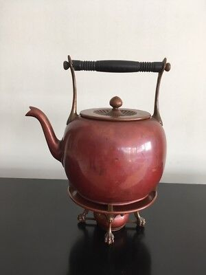 Antique Signed Gorham & Co. Japanese Aesthetic Movement Tea Kettle Stand Burner