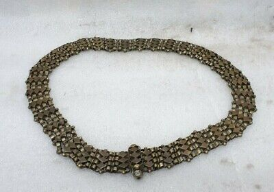Antique Old Hand Crafted Tribal Jewellery German Silver Metal Woman Waist Belt M