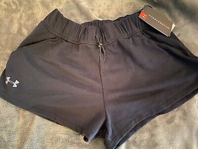 Under Armour Womens small UA French Terry short Black NWT 1305539