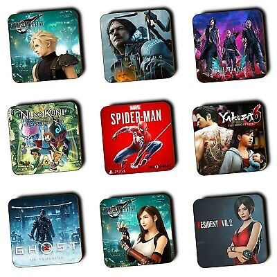 PlayStation Games PS4 Games PS3 Games - Wood Coasters - Gaming Gifts - Multi-Buy