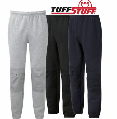Mens TUFFSTUFF Comfort WorkPant Joggers with KneePad Pockets Jogging Bottoms