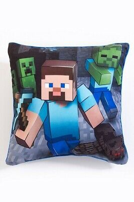 Minecraft Two Sided Square Cushion Pillow Perfect For Any Children's Room