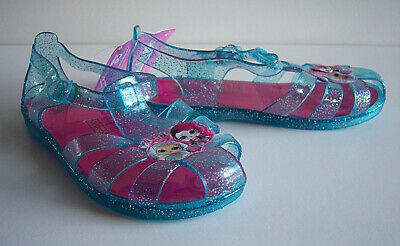 Girls LOL Surprise Jelly Shoes  Blue Glittery Sandals Beach UK Size 11 New