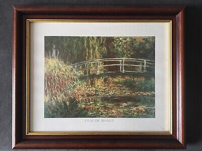 Claude Monet Lillies Oil Painting 30x20 NOT a print poster.Box Framing Available