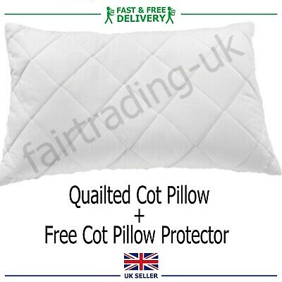 *Special Offer*Baby Junior Toddler Cot Pillow + Free Quailted Pillow Prototector
