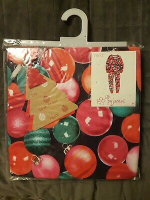 BNWT NEXT GIRLS CHRISTMAS PYJAMA SETXmas pj's Bright Bauble print - AGE 7 yrs