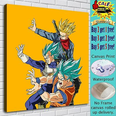 "16""x18"" Gohan Vegeta Goku HD Canvas Pictures Paintings Home Decor room Wall Art"