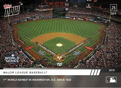 2019 Topps Now #1051 Mlb 1St World Series Game In Washington D.c. Since 1933