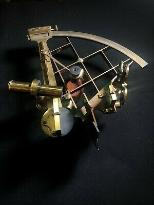 Antique brass sextant in case with provenance, circa 1820s, maritime, nautical