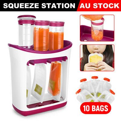 Infantino Squeeze Station Baby Food Feeding Reusable Pouches Juice Storage Bags