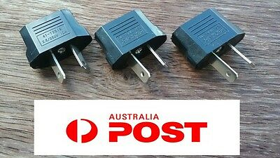 100 x USA EU EURO ASIA to AU AUS AUST AUSTRALIAN POWER PLUGs TRAVEL ADAPTER