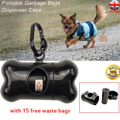 Pet Dog Poop Holder Rubbish Bags Case Garbage Dispenser Box 15pcs Waste Bags
