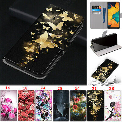 Rose Wallet Leather Flip Case Cover For Samsung Note 10 S10 S9 A50 A20e A10 A70