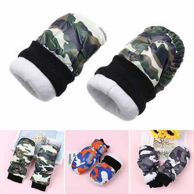 Children Gloves Camouflage Thicken Skiing Mittens Kids Winter Outdoor Gloves Hot