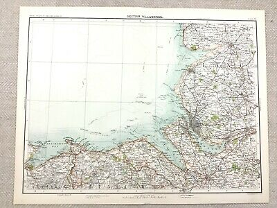 1890 Antique Map of Liverpool Merseyside County 19th Century Original