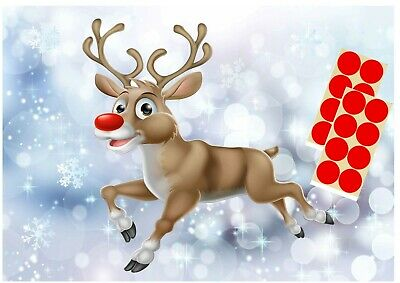 PIN THE NOSE ON THE REINDEER 20 Player Game Children Christmas Xmas Party Fun