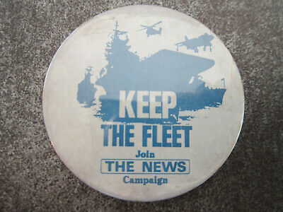 Keep The Fleet Join The News Campaign Pin Badge Button (L6B)