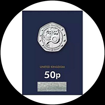 2019 WALLACE AND GROMIT 30TH ANNIVERSARY BU 50p Carded Coin