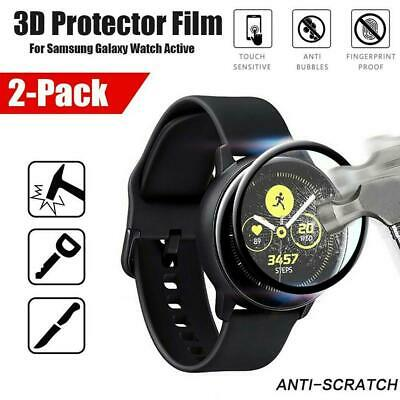 3D Curved Tempered Fibre Glass Screen Protector For Samsung Galaxy Watch Active