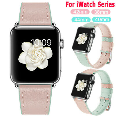 Genuine Leather Strap Band Bracele For Apple Watch 5 4 3 2 iWatch 38/42/40/44mm