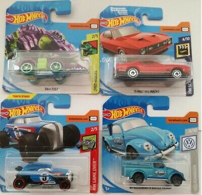 Hot Wheels MUSTANG VW BEETLE FANGSTER RIP ROD BLISTER CHIUSI 1 64 SCEGLI IL TUO