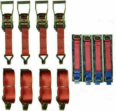 4 x 4mtr Red Recovery Strap Standard Handles Meta Ring Transporter Ratchet…