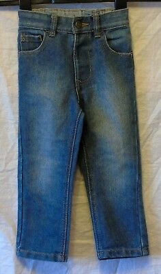 Boys George Mid Blue Denim Adjustable Waist Classic Leg Jeans Age 2-3 Years