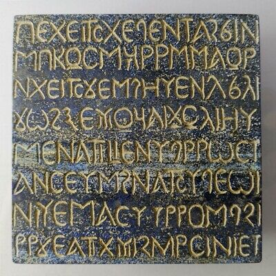 Very Old Greek Inscription Lapis Lazuli Stone Royal Tile Indo-Greek Carved #228