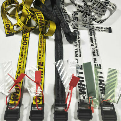 Off white Industrial Tie Down Belt Virgil Abloh Cinture Trasporto gratuito IT