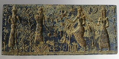 Ancient Sassanian Lapis Lazuli King Carved Very Old with Symbols #231