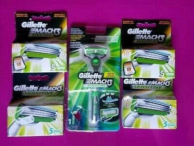 Ricariche Lamette Gillette Mach 3 Sensitive Power con n.1 rasoio