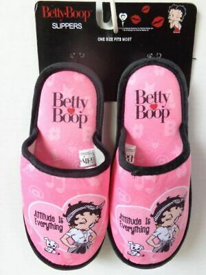 Betty Boop Slippers Attitude Is Everything Design  (New Item)
