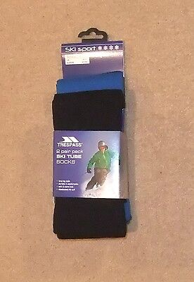 New 2 Pair Pack Trespass Gents  Ski Tube Socks Uk 4 -11