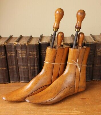 Antique Wooden Edinburgh Boot Lasts Vintage Trees. Shoe Shop.